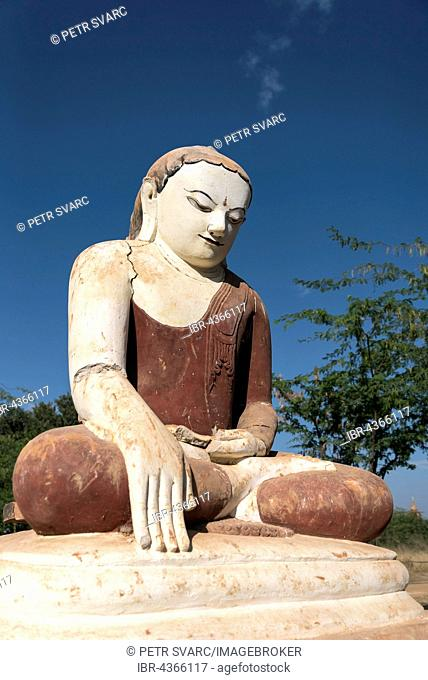 Statue of seated Buddha in Bagan, Myanmar