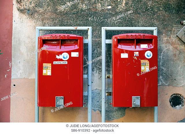Post mail Boxes, Taormina, Sicily, Italy