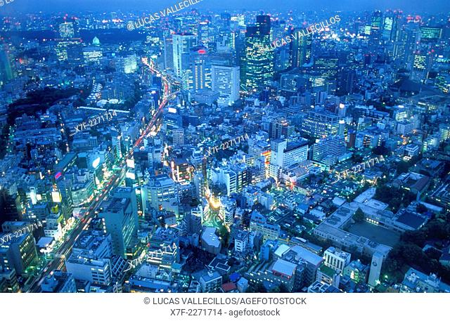 Panoramic. North of the city.Tokyo city, Japan, Asia