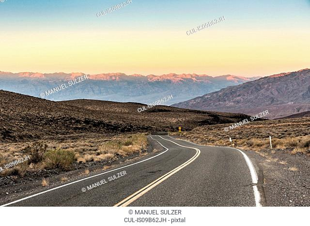 Winding road in Death Valley National Park, California, USA