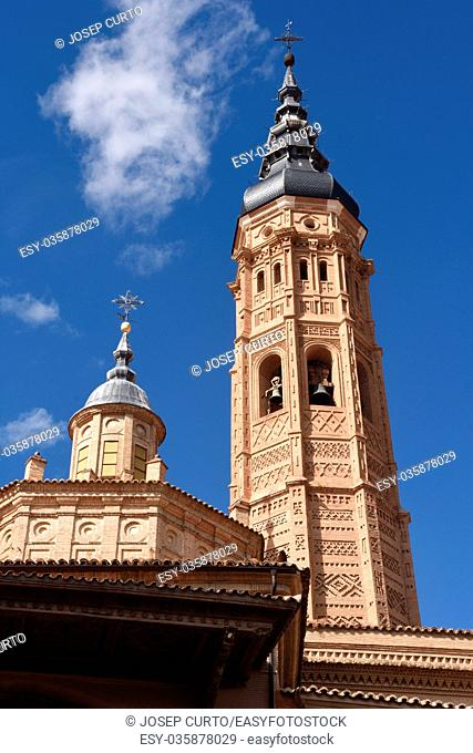 Collegiate church of Santa Maria la Mayor, Calatayud. Zaragoza province, Aragon