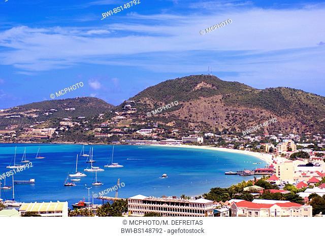 Philipsburg, capital of St. Maarten, Caribbean Sea, Saint-Martin, Philipsburg