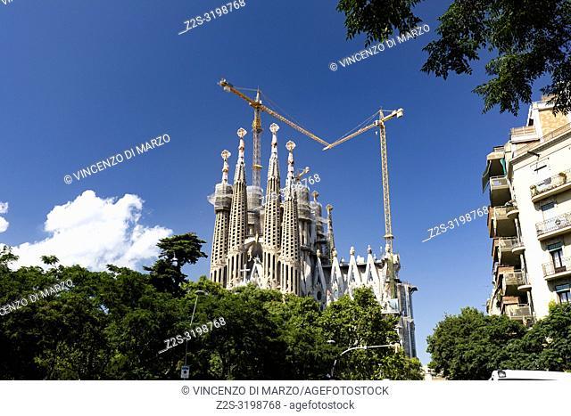 THE CHURCH OF SAGRADA FAMILIA OF ANTONI GAUDI, BARCELONA SPAIN