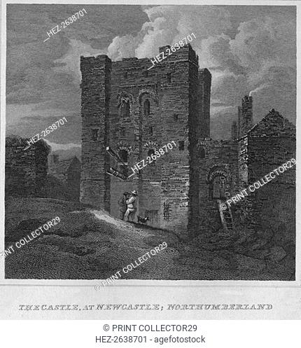 'The Castle, at Newcastle; Northumberland', 1814. Artist: John Greig