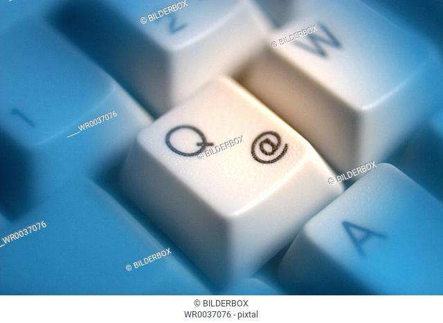 At symbol on a computer keyboard