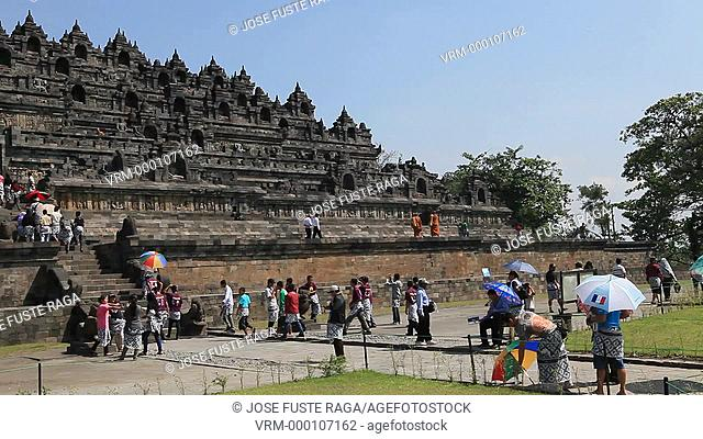 Indonesia,Borobudur Temple, Java, W.H