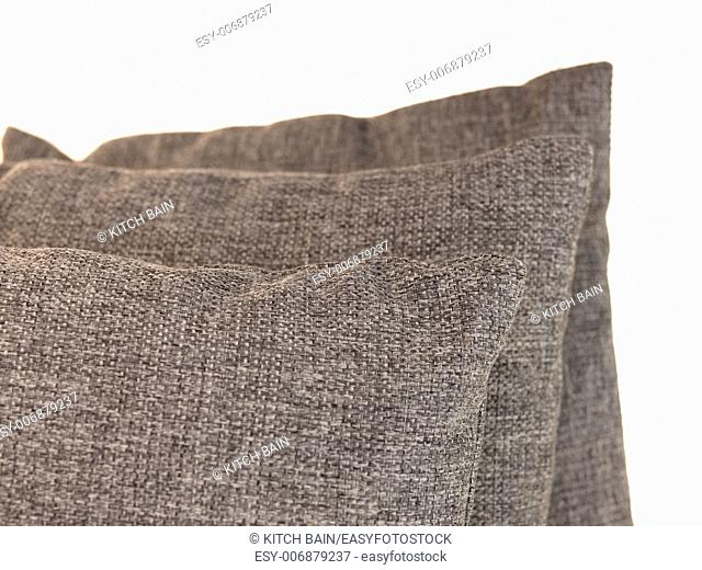 A close up shot of couch cushions
