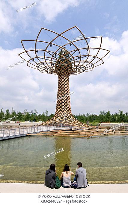 Italy, Milan, EXPO 2015, Tree of Peace