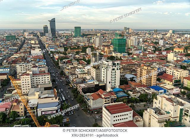 Phnom Penh cityscape, Cambodia, Asia