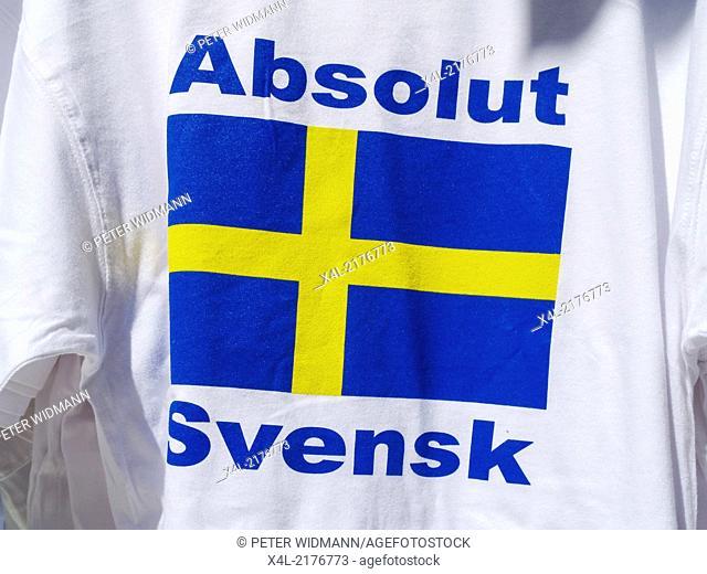 Stockholm, t-shirt Absolut Svensk, Absolutly swedish, Sweden, Drottningsgatan