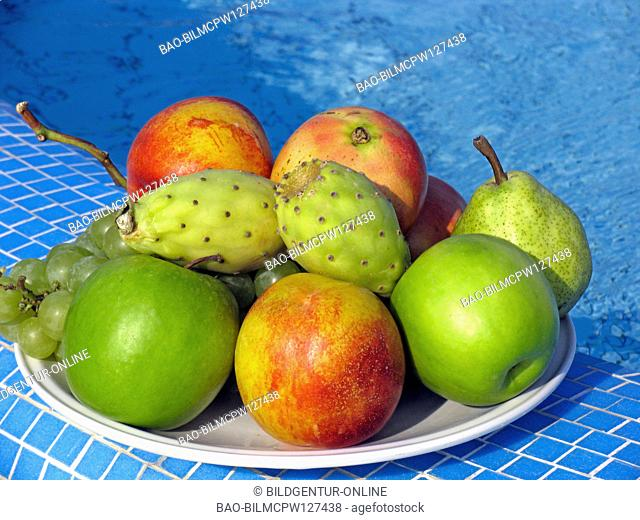 Fruits in the swimming pool