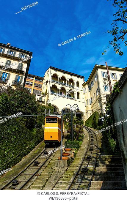 Bergamo upper city funicular, Italy