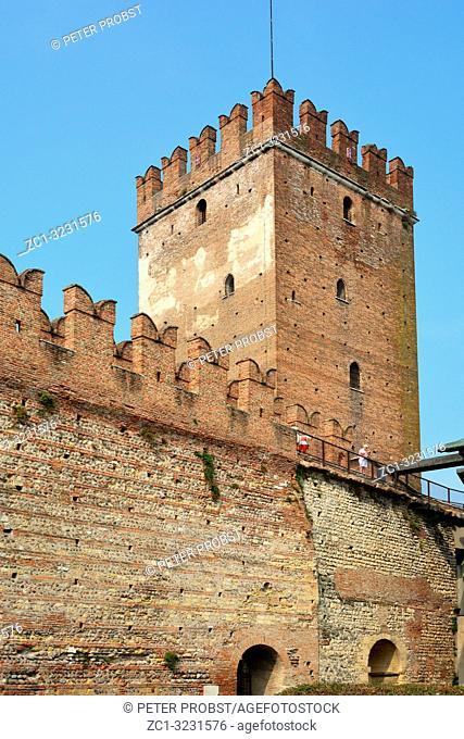 Castelvecchio castle in the historic center of Verona - Italy