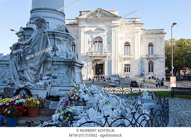 Facade of Medical School, Lisbon, Portugal