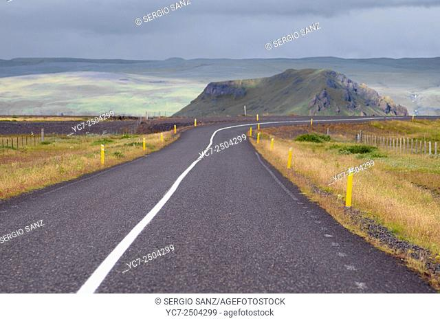 road 1 in Iceland