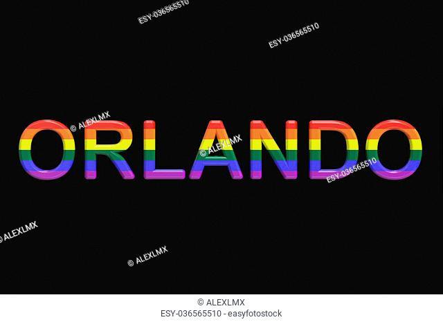 "Orlando mass shooting concept, """"3D rendering"""""""""""