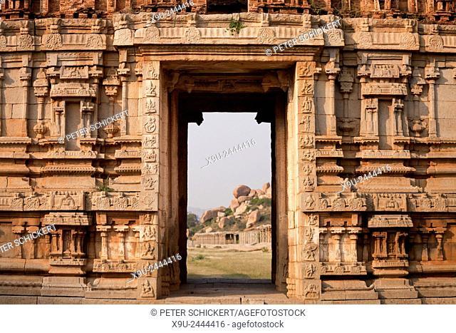 Achyuta Rayas Temple in Hampi, Karnataka, India, Asia