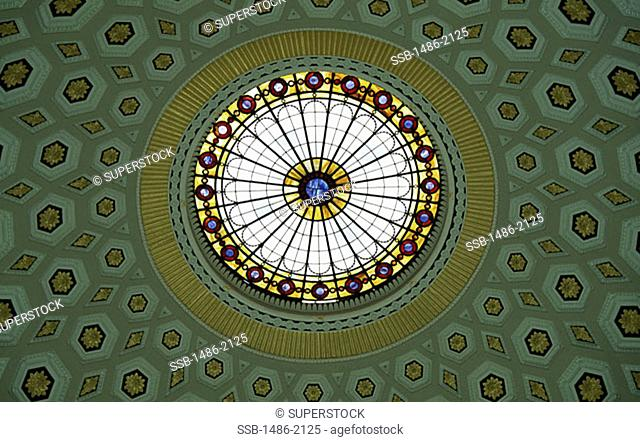 Low angle view of the ceiling of a building, City Hall, Dublin, Ireland