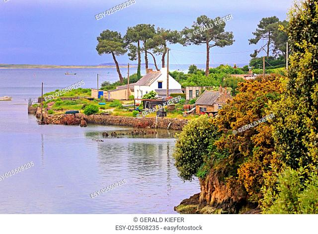 oyster farm at saint-philibert in southern brittany