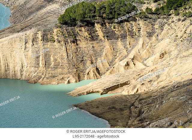 Shores of the reservoir of Canelles, Lleida, Spain