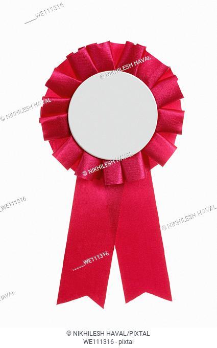 blank Pink Rosette badge
