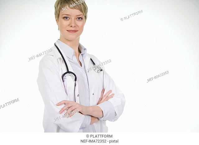 Portrait of a female doctor Sweden
