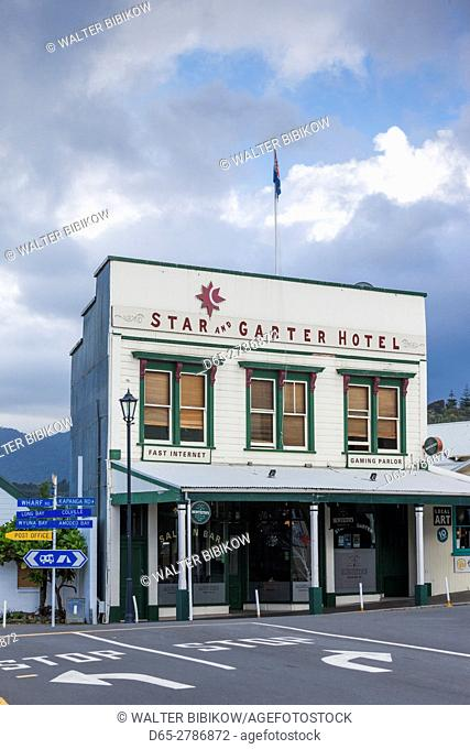New Zealand, North Island, Coromandel Peninsula, Coromandel Town, Star and Garter Hotel
