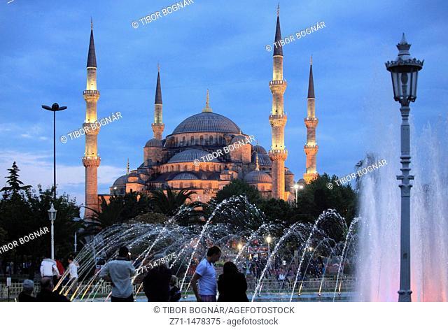 Turkey, Istanbul, Blue Mosque, Sultan Ahmet Camii