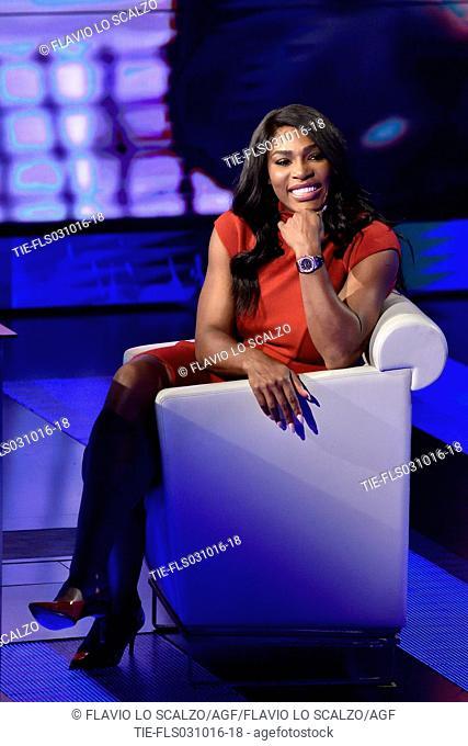 The tennis player Serena Williams guest at Tv show Che tempo che fa, Milan, ITALY-02-10-2016