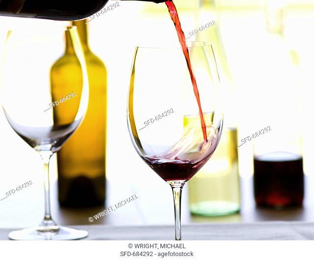 Pouring Cabernet Sauvignon Wine