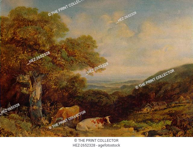 'Landscape with Cattle', 1847, (1935). From the collection of the Bolton Museum and Art Gallery, Bolton. From A Catalogue of the Pictures and Drawings in the...
