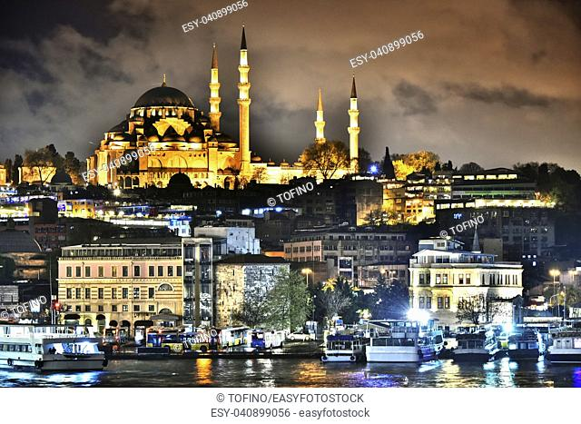 View on the Third Hill of Istanbul with Suleymaniye Mosque