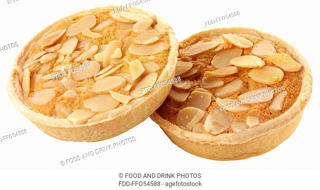 Bakewell Tarts Or Pies On White