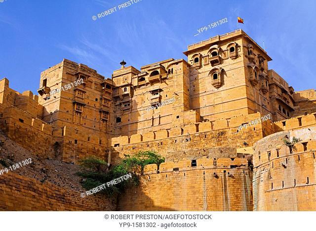 Walls of Jaisalmer Fort, Jaisalmer, Rajasthan, India