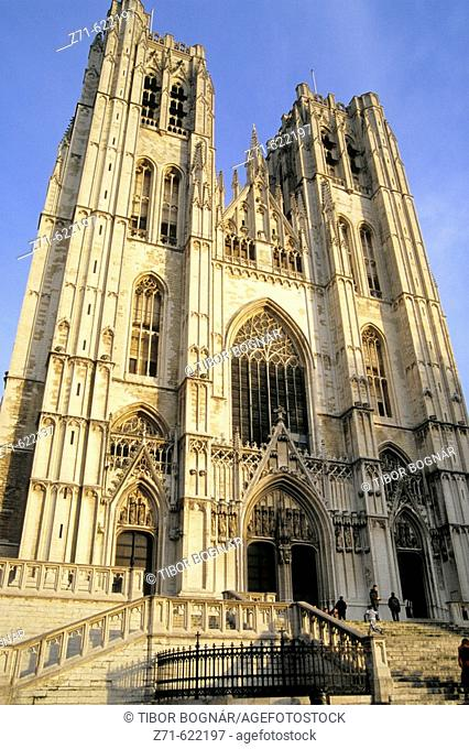 St. Michael's cathedral. Brussels. Belgium