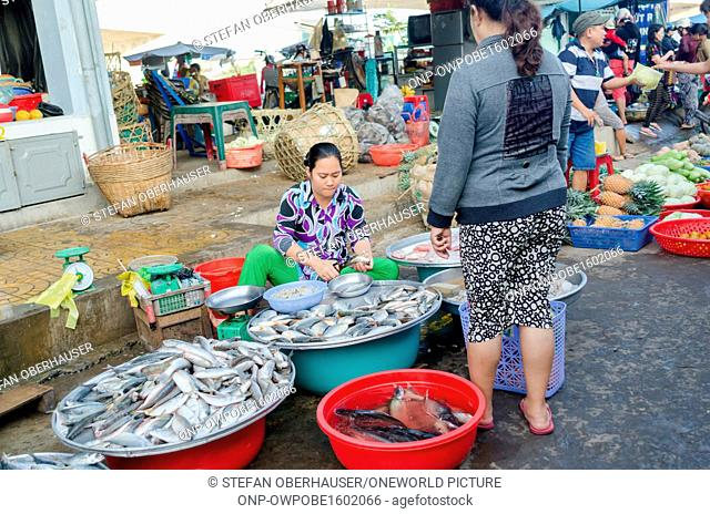 Vietnam, Can Tho, market scene in the Mekong Delta