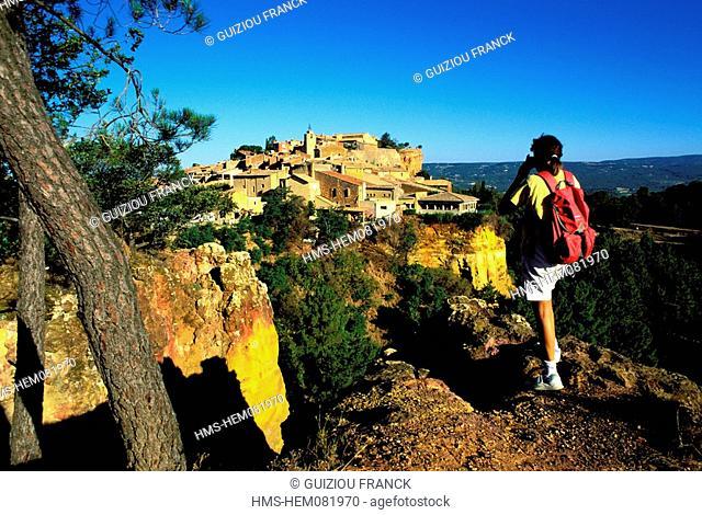 France, Vaucluse, Luberon, Roussillon, labelled Les Plus Beaux Villages de France The Most Beautiful Villages of France