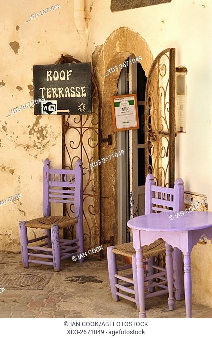 outdoor restaurant, Rue Al Mellah, Medina, Essaouira, Morocco