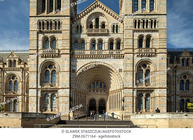 Entrance to Natural History Museum in London, England