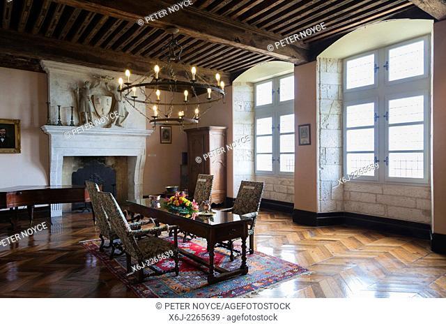 The grand Salon inside the Chateau de Monbazillac France