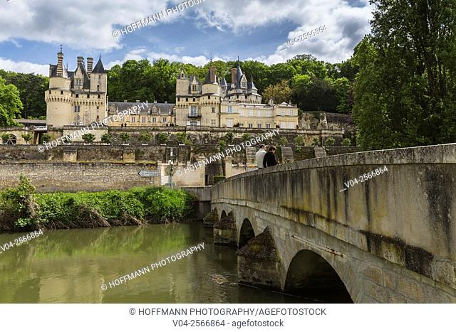 The beautiful Château d'Ussé in the Loire Valley, Indre-et-Loire, France, Europe