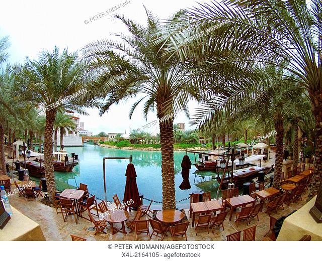 Dubai, hotel area of Madinat Jumeirah, United Arab Emirates