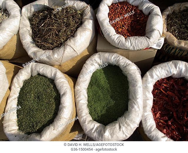 Spices in market in Jerusalem, Israel