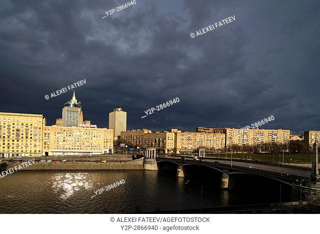 Moscow city after rain