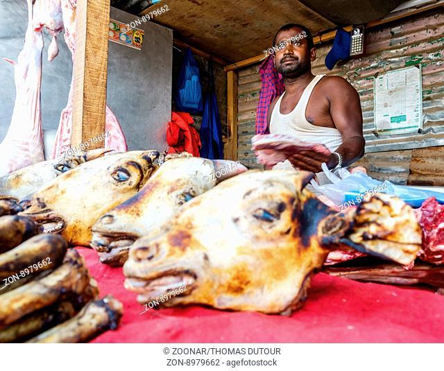 Butcher In Kathmandu, Nepal