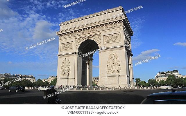 France , Paris City,Arch du Triumph