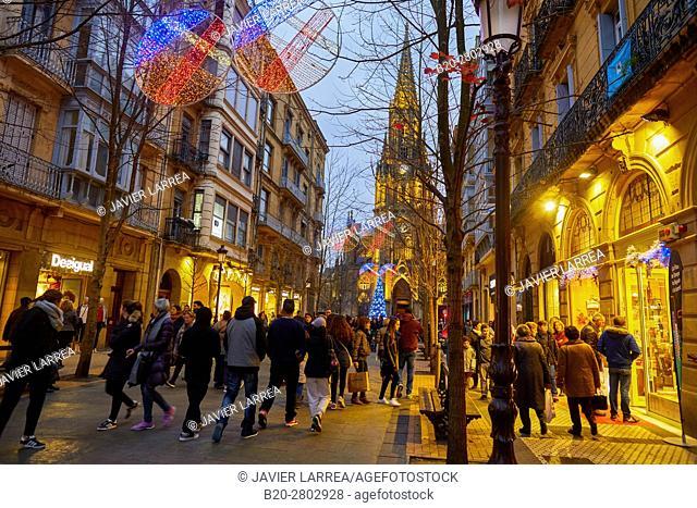 Christmas, Buen Pastor Cathedral, Donostia, San Sebastian, Gipuzkoa, Basque Country, Spain, Europe