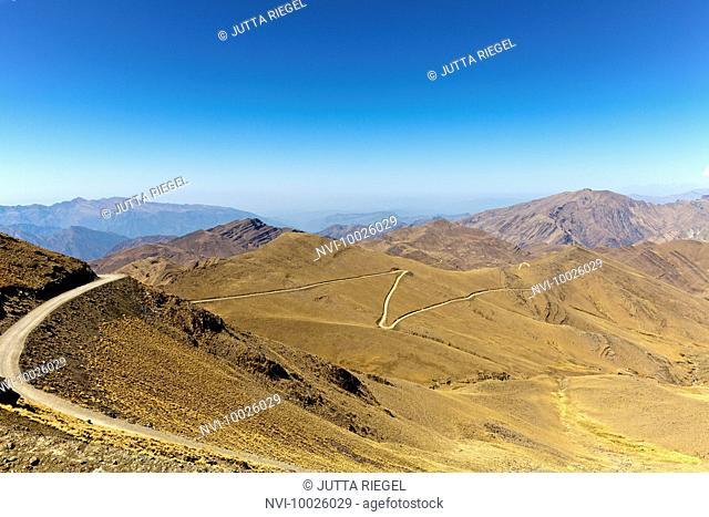 Landscape of Andes mountains, Puna desert, Jujuy Province, Argentina, South America