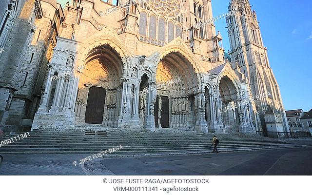 France , Chartres City , Chartres cathedral W.H., North Gate