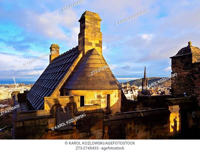 UK, Scotland, Lothian, Edinburgh, View of the Edinburgh Castle